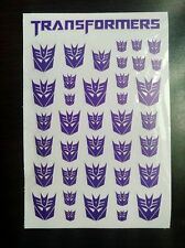 pTransparent Clear Transformers G1 Decepticon Symbol Sticker Decal for Custom