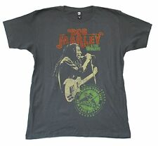 BOB MARLEY UPRISING TOUR 1980 NYC GREY T-SHIRT X-LARGE NEW OFFICIAL SOFT ZION