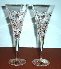 """Waterford MURIEL Champagne Flutes SET/2 Made in Ireland 9-3/8"""" H New"""