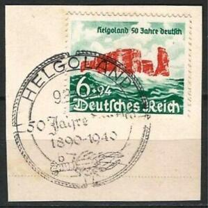 Germany (Third Reich) 1940 FD CTO 50 Yrs Cession Helgoland to Germany 09.08.40