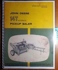 John Deere 14T Automatic Pickup Baler Owner's Operator's Manual OM-E16470E 12/61