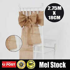 10X Rustic Natural Vintage Burlap Lace Hessian Chair sashes Wedding Decoration