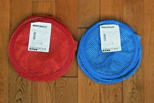 IKEA MINIFANGST hanging mesh storage 3-tier blue and red lot of 2