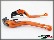 Strada 7 CNC Long Carbon Fiber Levers Buell XB12R XB12Ss XB12Scg 2009 Orange