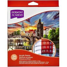 Derwent R33005 12ml Academy Acrylic Paint - Pack of 24