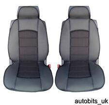 PREMIUM BLACK PADDED CUSHION SEAT COVERS FOR FORD TRANSIT RANGER CONNECT C-MAX