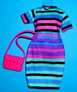 %***Original Barbie Curvy Kleidung*Kleid*Tasche***%