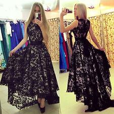 Chiffon Sommer Kleid Damen Elegant Lang Party Abendkleid Cocktailkleid Ballkleid