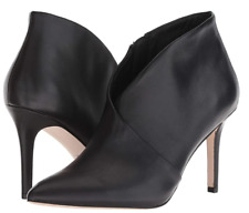 Jessica Simpson Layra High Heel Leather Black Booties Shoes Size 9M