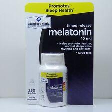 Melatonin Sleep Aid 10mg 250 Timed Release Tablets with Vitamin B6 Members Mark
