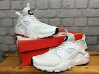 NIKE AIR MENS UK 7 EU 41 HUARACHE RUN ULTRA WHITE BLACK TRAINERS LG
