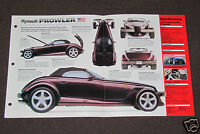 1997-1998 PLYMOUTH PROWLER Car SPEC SHEET BROCHURE PHOTO BOOKLET