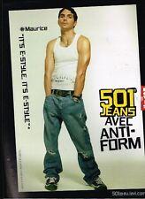 Publicité advertising 2004 Les Pantalons Jeans levi's 501