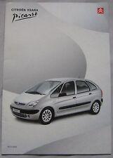 2000 Citroen Xsara Pacaso Brochure Pub.No. K8348