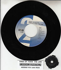 ROCKY BURNETTE Tired Of Toein' The Line & JOHN WAITE Missing You  45 record NEW
