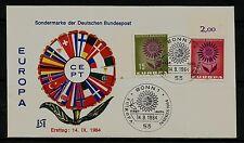 BRD FDC MiNr 445 bordo a sinistra R 1 + 446 Rand sopra R 2 Europa (CEPT) 1964-Unione -