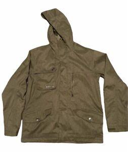 Men's Burton Covert Insulated Dryride Snowboard Jacket Size Medium Olive Green