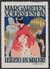 Germany Cinderella stamp: Margareten Folk Festival, Leipzig, 1912 - cw50.62a