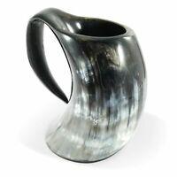Viking Bar Mug Genuine Viking Drinking Horn Mug Tankard 26-30 Ounces