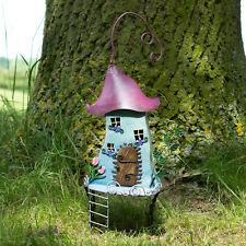 Fairy Garden Tree House Decorative Metal Outdoor Garden Patio Ornament Elf Magic
