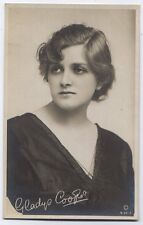 Gladys Cooper Actress Real Photo Rotary Photo Postcard with facimile autograph