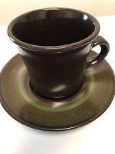 Set Of 2 Piece Franciscan Madeira Coffee Mug Cup & Saucer Earthenware Stoneware