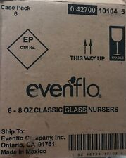 Evenflo Classic Glass Baby Bottles 8 oz - 6 Pack New, Free Shipping