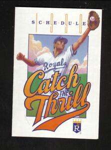 Kansas City Royals--1990 Pocket Schedule--WDAF