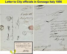OLD LETTER: 1856 Cover with official receipt declared to Mayor of Gonzaga (33)