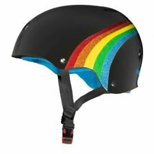Triple 8 Certified Sweatsaver Safety Helmet - Rainbow Sparkle Black