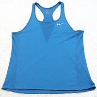 Nike Zonal Cooling Blue Crewneck Mans Tank Top Tee T-Shirt Size XL Polyester W17