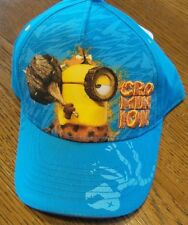 "Despicable Me Minions Hat Baseball Cap OSFM Blue Stitched ""CRO MINION"" nwt"