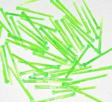 Lego Lot of 50 New Trans-Bright Green Bar 8L with Round End Spring Shooter Dart