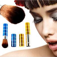 Cosmetic Makeup Foundation Loose Powder Face Retractable Kabuki Blush Brush