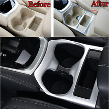 Matte Car Center Console Cup Holder Cover Trim For Nissan X-Trail Rogue 2014-16
