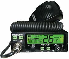 PRESIDENT RONALD HAM RADIO 10m & 12m (or wideband 11m) AM & FM CB HAM RADIO