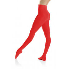 Red Ballet Dance Tights Stockings Hosiery Mondor Durable 345 Girls Size 8-10
