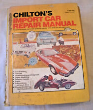 Chilton's Import Car Repair Manual 1973-1979 Cars and Light Trucks