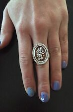 Ring Silver 925 Cameo flower jewelry sardonic CZ Made in Italy