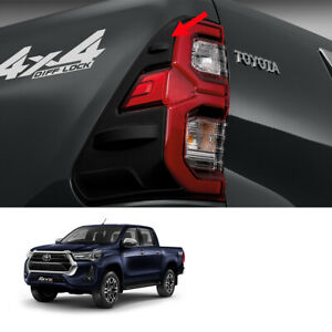 For Toyota Hilux Revo Prerunner 2021 2022 Matte Rear Tail Lamp Lights Cover