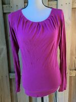 Michael Stars Womens One Size OS Purple Long Sleeve Knit Top Medium M
