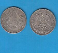 Mexique 8 Réales  argent 1902  Culiacan  Silver Coin