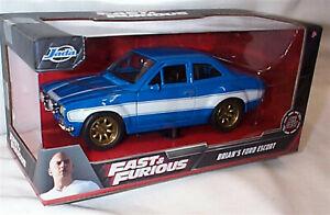 FAST & FURIOUS Brian's Ford Escort Blue 1/24 SCALE DIECAST Jada 99572 RB