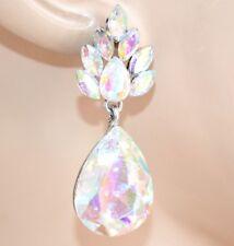 PENDIENTES mujer plata strass cristales colgantes gotas elegantes cerimonia L20