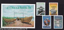 More details for antigua & barbuda - 1987 local boats - u/m - sg918-21 + ms922