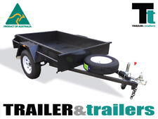 6x4 BOX TRAILER - NEW WHEELS - HEAVY DUTY - SINGLE AXLE TRAILER - JOCKEY WHEEL