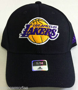 NBA Los Angeles Lakers Adidas Curve Brim Structured Cap Hat NEW
