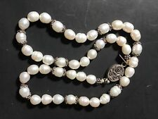 Sterling Silver Freshwater Pearl Necklace w/beads Ranell's Collection SS-218