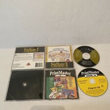Print Master Silver 10 & Print Master Gold For PC Windows CD's + Jewel Cases!