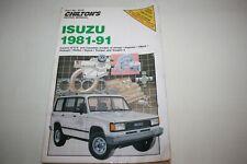Chilton Manual, Isuzu 1981-91, Paperback Book, Amigo, Impulse, Rodeo, Trooper...